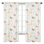 Woodland Animal Toile Window Treatment Panels by Sweet Jojo Designs - Set of 2