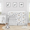 Woodland Animals Baby Boy or GIrl Nursery Crib Bedding Set by Sweet Jojo Designs - 5 pieces - Blue Grey Tan Forest Bear Deer Fox