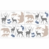 Woodland Animals Baby, Childrens and Kids Wall Decal Stickers by Sweet Jojo Designs - Set of 4 Sheets