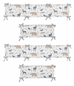 Woodland Animals Collection Crib Bumper by Sweet Jojo Designs