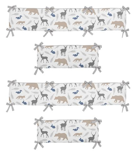 Woodland Animals Collection Crib Bumper by Sweet Jojo Designs - Click to enlarge