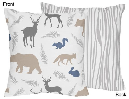 Woodland Animals Decorative Accent Throw Pillow by Sweet Jojo Designs - Click to enlarge