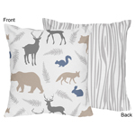 Woodland Animals Decorative Accent Throw Pillow by Sweet Jojo Designs