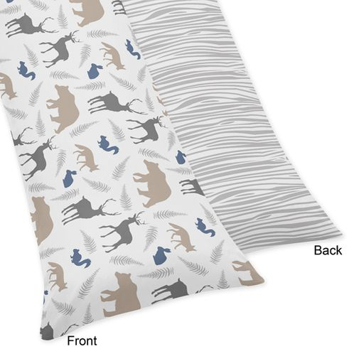 Woodland Animals Full Length Double Zippered Body Pillow Case Cover - Click to enlarge