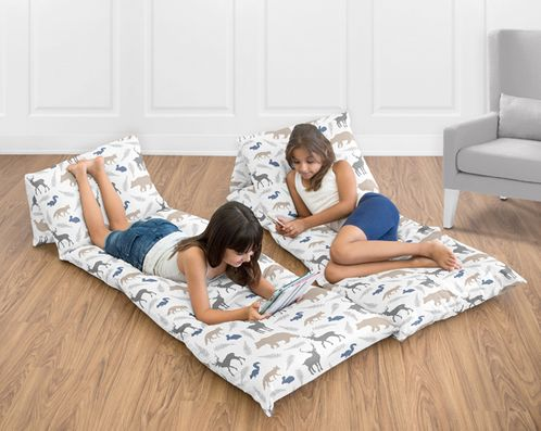 Woodland Animals Kids Teen Floor Pillow Case Lounger Cushion Cover by Sweet Jojo Designs - Click to enlarge