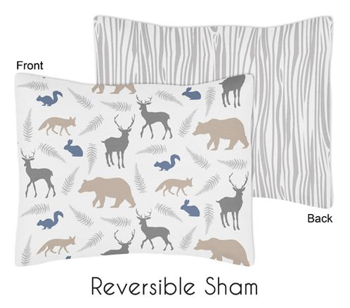 Woodland Animals Pillow Sham by Sweet Jojo Designs - Click to enlarge