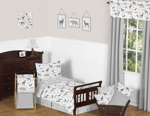 Woodland Animals Toddler Bedding - 5pc Set by Sweet Jojo Designs - Click to enlarge