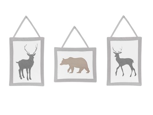 Woodland Animals Wall Hanging Accessories by Sweet Jojo Designs - Click to enlarge