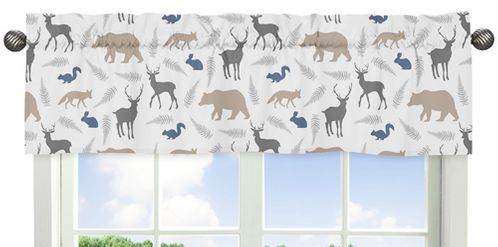 Woodland Animals�Window Valance by Sweet Jojo Designs - Click to enlarge
