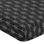 Woodland Arrow Boy Fitted Crib Sheet Baby or Toddler Bed Nursery by Sweet Jojo Designs - Black and White Rustic Country Lumberjack