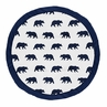 Woodland Bear Boy Baby Playmat Tummy Time Infant Play Mat by Sweet Jojo Designs - Navy Blue and White