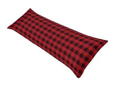 Woodland Buffalo Plaid Body Pillow Case Cover by Sweet Jojo Designs (Pillow Not Included) - Red and Black Rustic Country Lumberjack