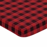 Woodland Buffalo Plaid Boy Fitted Mini Crib Sheet Baby Nursery by Sweet Jojo Designs For Portable Crib or Pack and Play - Red and Black Rustic Country Lumberjack