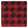 Woodland Buffalo Plaid Fabric Memory Memo Photo Bulletin Board by Sweet Jojo Designs - Red and Black Rustic Country Lumberjack