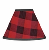 Woodland Buffalo Plaid Lamp Shade by Sweet Jojo Designs - Red and Black Rustic Country Lumberjack