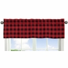 Woodland Buffalo Plaid Window Treatment Valance by Sweet Jojo Designs - Red and Black Rustic Country Lumberjack