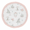 Woodland Bunny Floral Girl Baby Playmat Tummy Time Infant Play Mat by Sweet Jojo Designs - Blush Pink and Grey Boho Watercolor Rose Flower Dream Catcher