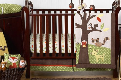 Woodland Forest Animals Baby Bedding - 11pc Crib Set by Sweet Jojo Designs - Click to enlarge