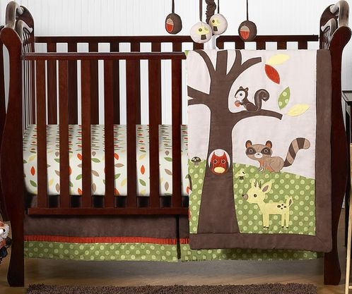 Woodland Forest Animals Baby Bedding - 4pc Crib Set by Sweet Jojo Designs - Click to enlarge
