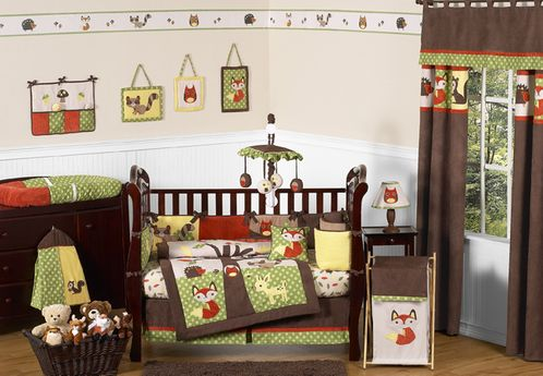 Woodland Forest Animals Baby Bedding 9pc Crib Set By Sweet Jojo Designs