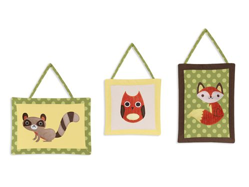 Woodland Forest Animals Wall Hanging Accessories by Sweet Jojo Designs - Click to enlarge