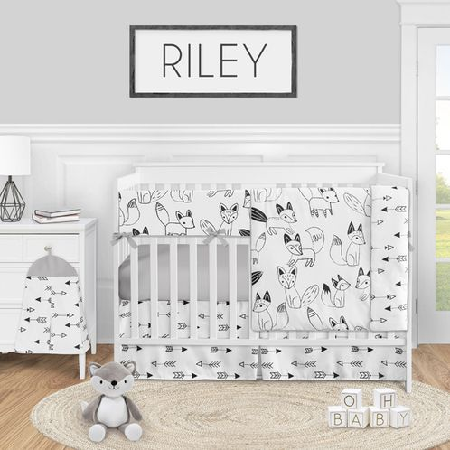 Sweet Jojo Designs Crib Bumper for Woodland Animals Collection Set of 2