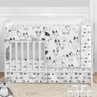 Woodland Fox Baby Boy or Girl Nursery Crib Bedding Set by Sweet Jojo Designs - 5 pieces - Black and White Forest Animal