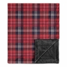 Woodland Plaid Flannel Rustic Patch Baby Boy Receiving Security Swaddle Blanket for Newborn or Toddler Nursery Car Seat Stroller Soft Minky by Sweet Jojo Designs - Red and Black