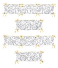 Yellow and Gray Avery Collection Crib Bumper by Sweet Jojo Designs