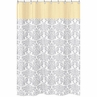 Yellow and Gray Avery Kids Bathroom Fabric Bath Shower Curtain by Sweet Jojo Designs