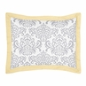 Yellow and Gray Avery Pillow Sham by Sweet Jojo Designs