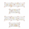 Yellow and Pink Watercolor Floral Girl Baby Nursery Crib Bumper Pad by Sweet Jojo Designs - Blush Peach Orange Cream Grey and White Shabby Chic Rose Flower Farmhouse
