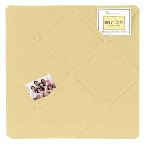 Yellow Fabric Memory/Memo Photo Bulletin Board by Sweet Jojo Designs - Click to enlarge
