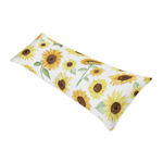Yellow, Green and White Sunflower Boho Floral Body Pillow Case Cover by Sweet Jojo Designs (Pillow Not Included) - Farmhouse Watercolor Flower