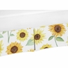 Yellow, Green and White Sunflower Boho Floral Girl Pleated Baby Nursery Crib Bed Skirt Dust Ruffle by Sweet Jojo Designs - Farmhouse Watercolor Flower