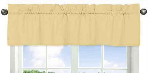 Yellow Window Valance by Sweet Jojo Designs - Click to enlarge