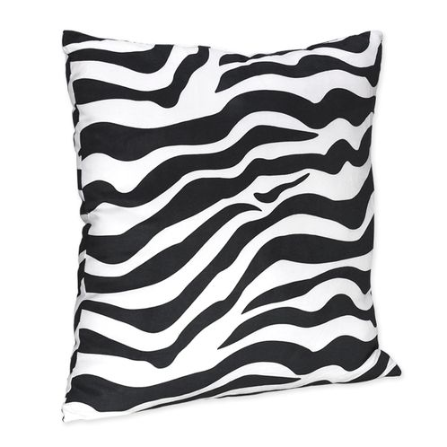Zebra Print Decorative Accent Throw Pillow for Turquoise Zebra Bedding Set - Click to enlarge