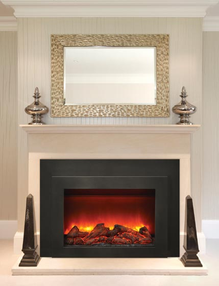 Miraculous Amantii 30 Inch Electric Fireplace Insert With Black Steel Surround Interior Design Ideas Inesswwsoteloinfo