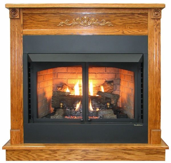 Buck Stove Deluxe Mantel Dark Oak For Models 1110 And 1127