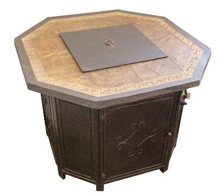 Dayva International 35 Inch Octagonal Fire Pit Table With
