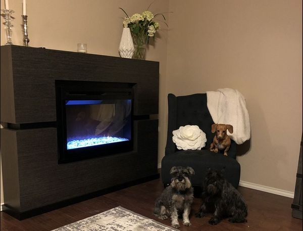 Dimplex linwood electric fireplace and mantel with - Going to bed with embers in fireplace ...