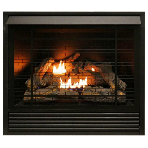 Duluth Forge 36 Inch Full Size Dual Fuel Vent Free Fireplace Insert