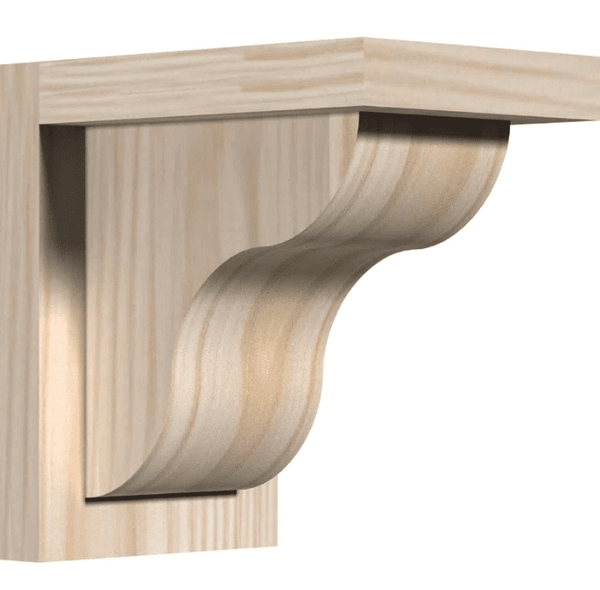 Ekena Millwork 5 1 2 Inch Smooth Carmel Corbels With Backplate