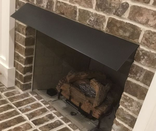 Elite Square End Fireplace Hood 36 Inch X 6 Inch