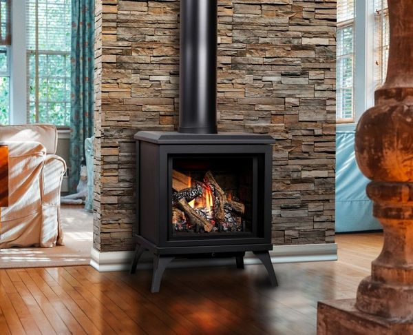 Kingsman Fdv200s Free Standing Direct Vent Gas Stove With Blower Ipi Pilot