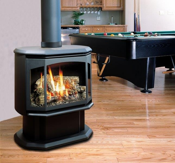 Kingsman Fdv350 Free Standing Direct Vent Gas Stove With Blower Ipi Pilot