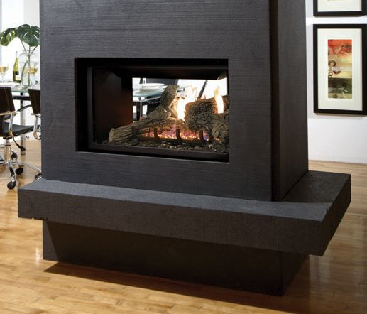 Kingsman Multi Sided Direct Vent Gas Fireplace Right Hand Burner