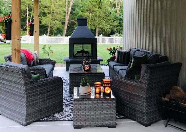 Mirage Stone See Through Outdoor Woodburning Fireplace