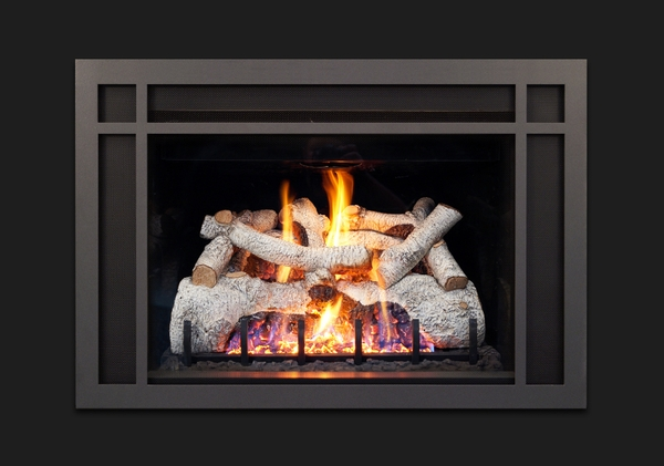 Fabulous Real Fyre Charred Mountain Birch Log Set For Dvi 25 Series Direct Vent Gas Fireplace Inserts Home Interior And Landscaping Eliaenasavecom
