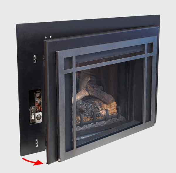 Lennox 3 Sided Propane Fireplace: Real Fyre Medium 3-Sided Surround For DVI-25 Series Direct